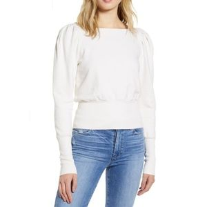 AG puff sleeve cropped sweater size Medium